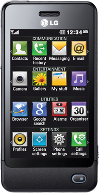 LG GD510 POP Black | Telenet GSM + Mobiel abonnement